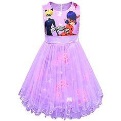 b83ec1e47fe3ec FStoryWinyee Mädchen Ladybug Kleid Prinzessin Kostüm Miraculous Cartoon  Druck ... - #cartoon #