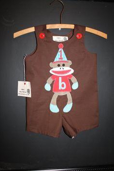 Sock Monkey Birthday Jon Jon. Need to get this for Lukas