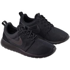 Nike Shoes Womens Roshe Black Anthracite (64 CAD) ❤ liked on Polyvore featuring shoes, lightweight shoes, black shoes, kohl shoes, light weight shoes and nike footwear