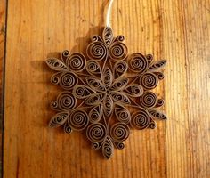 Eco-friendly quilled snowflake