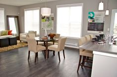 Main area of Sonoma at Sage Hill in Calgary. Best Real Estate in the North West. Calgary, North West, Sage, Small Spaces, Dining Table, Vibrant, Real Estate, Design Inspiration, Furniture
