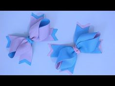 Passo a passo: Lindo laço feito com fita de gorgurão/Diy - YouTube