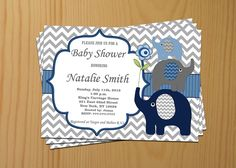 #BabyShowerInvitation Elephant Baby Shower Invitation Boy Baby Shower invitations Printable Baby Shower Invite -FREE Thank You Card - editable pdf Download (57b) baby shower invitation invite invites invitations baby shower invitation elephant baby shower boy baby shower boy baby boy shower download blue 10.00 USD diymyparty