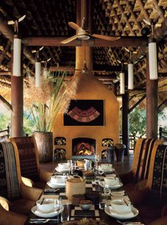 Four Seasons Tented Camp Golden Triangle / WWW.THEAFRICANTOUCH.COM / Ethnic Global African Home Decor and Style /