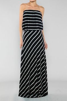 Love the Blouson Top on this maxi.