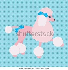 stock vector : Poodle