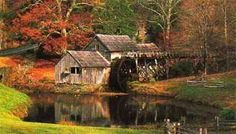 Mabry Mill. Blue Ridge Parkway. Virginia. #FallinVA takes our breath away.
