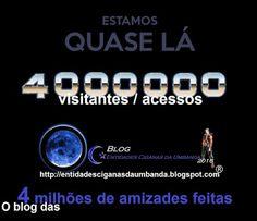 Entidades Ciganas da Umbanda (Clique Aqui) para entrar.: 4 MILHÕES DE ACESSOS / VISITANTES...QUASE LÁ