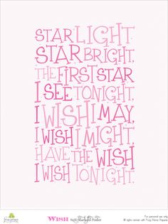 Keilei is always making a wish on the first star. I've got to teach her this!