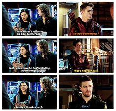 "#Arrow 3x08 ""The Brave and the Bold"" - Cisco, Roy, Barry and Oliver"