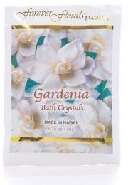 Hawaiian Bath Crystals Gardenia by Buns of Maui. $8.49. Hawaiian Bath & Body products make a great gift for that special someone!. Now you can indulge yourself and create your own little paradise with our therapeutic and aromatic mineral spa bath crystals. Enriched with botanical Hawaiian extracts. Safe for tubs, hot tubs, and jacuzzis. Biodegradable, environmentally friendly. 1.75 oz. / 50 g.