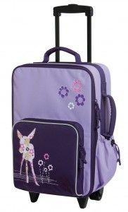 Lässig Kinder Trolley Reisetasche Koffer 4Kids Deer Viola lila