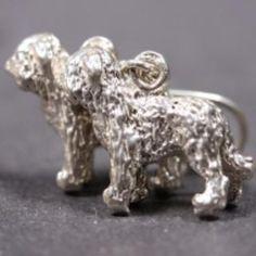 Briard silver EARRINGS (hooks) XL