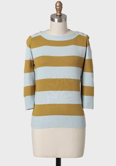 Campus Striped Sweater | Modern Vintage Tops