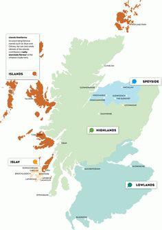 Scotch Whisky Map
