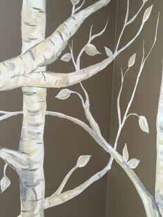 Birch trees close up