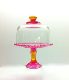 I love this!!!  So Darn Cute Hand Painted Cupcake Stand and Dome by MarshHome, $30.00