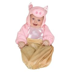Baby Pig in a Blanket Bunting Costume, Infant Unisex, Size: 0-9 Months, Multicolor