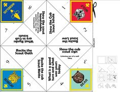 This is a simple game to help your cub scouts learn what they need for their bobcat badge. This is based off the new requirments