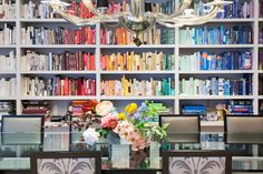 """""""I was really insistent on having a wall of books."""" —M.T. Carney on her SoHo loft."""