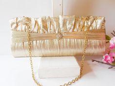 Gold Evening Bag Vintage Gold Clutch Bag by LittleBitsofGlamour