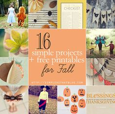 simple as that: 16 simple projects + free printables for Fall