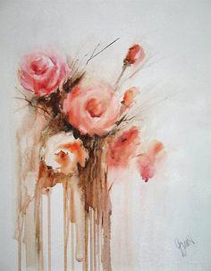 Pretty painting—Roses❣ Vesna Grundler - Queen of Yen