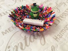 My new handmade. Lovely, colorful bowl made of beads. ;-*