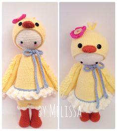 Chick mod made by Melissa / based on a lalylala crochet pattern. Kawaii Crochet, Love Crochet, Diy Crochet, Crochet Crafts, Yarn Crafts, Crochet Baby, Crochet Projects, Crochet Amigurumi, Amigurumi Doll