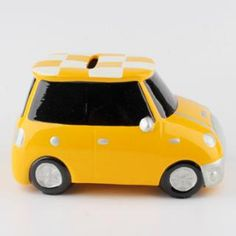 Yellow glazing car ceramic bank for saving money!! Cool and cute gift choice for home decorating. More information from migodesigns: