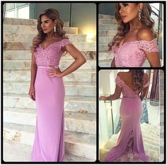 White Sexy Lace Chiffon Party dresses 2016 V-neck Long Sleeve Slit Prom gown - Products - 27DRESS.COM