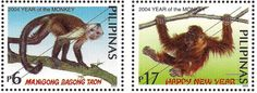 Stamps featuring the Year of the Monkey