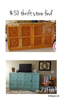 thrift store find before and after nobiggienet bt2 8 rustic wood furniture