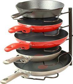 SimpleHouseware Kitchen Cabinet Pantry Pan and Pot Lid Organizer Rack Holder, Bronze
