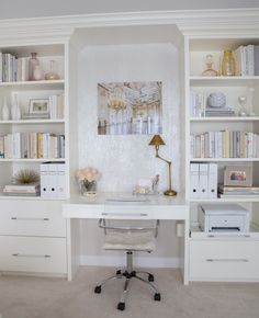 Built-in desk and shelving