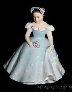 Royal Doulton Figurine The Bridesmaid HN2196 Blue Dress