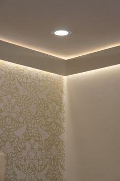 A Designer's Top 10 Tips for Interior Lighting Installing LED strip lighting help - Page 1 - Homes, Hallway Lighting, Living Room Lighting, Bedroom Lighting, Strip Lighting, Interior Lighting, Lighting Design, Lighting Ideas, Cove Lighting Ceiling, Bedroom Ceiling