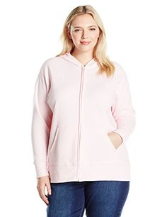 Women's Athletic Jackets - Just My Size Womens Plus Full Zip Fleece Hoodie >>> You can find out more details at the link of the image.