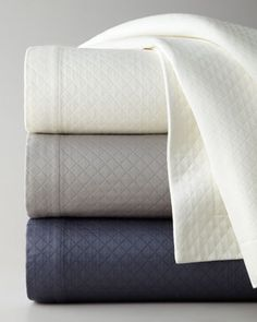 """Queen Diamond Pique Coverlet, 96"""" x 100"""" by SFERRA at Horchow."""