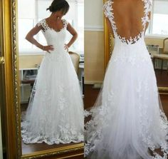Open back with lace details and overlay