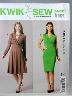 Kwik Sew 4081 Misses' Dresses Sewing Pattern by Allyssecondattic