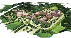 Ursuline Academy of Dallas - Campus Master Plan - GFF Catholic Colleges, University Architecture, Master Plan, Acre, Dallas, City Photo, How To Plan, Projects, Log Projects