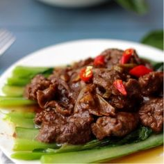 Beef with Sha Cha Sauce. Stir-fried beef with sha cha sauce--sha cha beef Halal Recipes, Meat Recipes, Asian Recipes, Cooking Recipes, Chinese Recipes, Asian Foods, Drink Recipes, Yummy Recipes, Kitchens