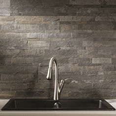"""You'll love the 6"""" x 24"""" Natural Stone Peel & Stick Mosaic Tile in Iron Slate at Wayfair - Great Deals on all Home Improvement  products with Free Shipping on most stuff, even the big stuff."""