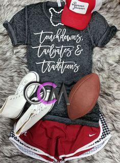 d9db3e40 touchdownstailgatesandtraditionserodedwash Lady Games, Game Day Shirts,  Alabama Football Shirts, College Football, Baseball