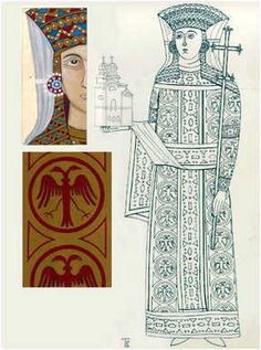 Byzantine Icons, Byzantine Art, Viking Age, Art Icon, Orthodox Icons, Islamic Art, Fashion History, Line Drawing, Art Tutorials