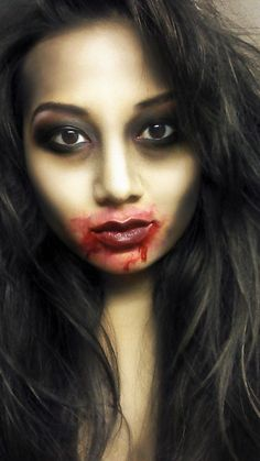 I'm a fan of the understated makeup with a bloody mouth.