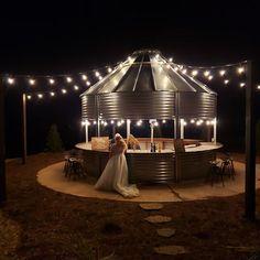 Backyard Pavilion, Backyard Gazebo, Silo House, Grain Silo, Cool Fire Pits, Outdoor Buildings, Back Patio, Gazebo Ideas, Yard Ideas