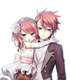 they look like brother and sister. Pink Hair Anime, Anime Girl Pink, Anime Girl Cute, Anime Love, Anime Guys, Chica Anime Manga, Manga Anime, Anime Chibi, Kawaii Anime