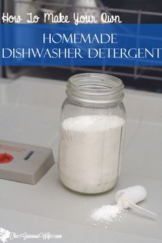 Homemade Dishwasher Detergent #diy #cleaning #FrugalLiving From TheGraciousWife.com